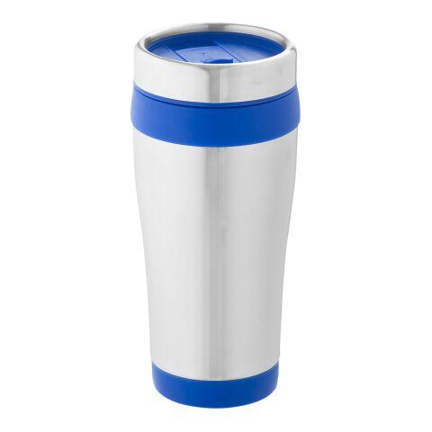 Elwood 470 ml Isolierbecher silber-blau | ohne Werbeanbringung | Nicht verfügbar | Nicht verfügbar