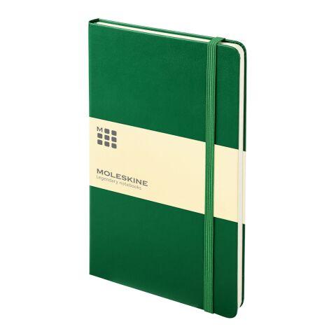 Moleskine Classic Hardcover Notizbuch L – liniert dunkelgrün | 4C-Digitaldruck | Papierband | 460 mm x 55 mm