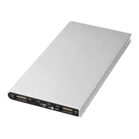 Plate 8000 mAh Aluminium-Powerbank silber | Nicht Anwendbar | ohne Werbeanbringung | Nicht verfügbar | Nicht verfügbar