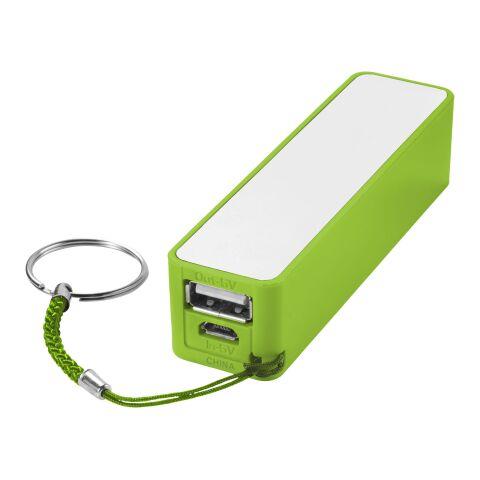 Jive Powerbank 2000 mAh limettengrün-weiss | ohne Werbeanbringung | Nicht verfügbar | Nicht verfügbar | Nicht verfügbar
