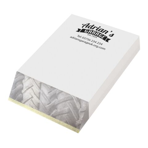 Wedge-Mate® A7 Notizblock weiss | 1-farbige Lithographie | Blätter | 74 mm x 105 mm