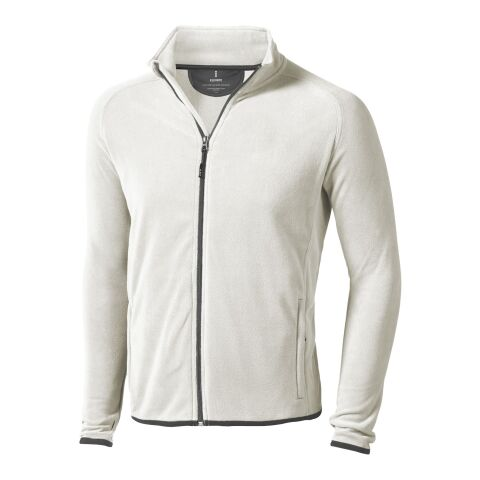 Brossard Mikrofleece-Jacke mit durchgehendem Reißverschluss hellgrau | XS | 1-farbiger Siebdruck | rechte Brust | 100 mm x 80 mm