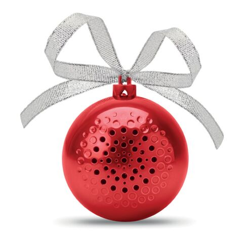 Bluetooth Lautsprecher Weihnachtskugel rot | ohne Werbeanbringung | Nicht verfügbar | Nicht verfügbar