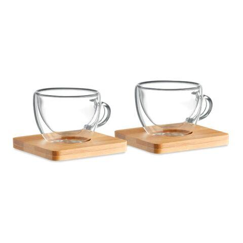Set mit 2 Espressogläsern transparent   ohne Werbeanbringung   Nicht verfügbar   Nicht verfügbar