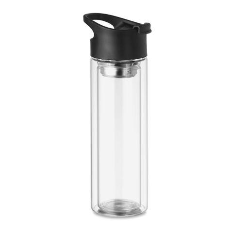 Glas Trinkflasche 380ml transparent | ohne Werbeanbringung | Nicht verfügbar | Nicht verfügbar