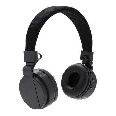 Faltbarer wireless Kopfhörer schwarz | 1-farbiger Tampondruck | Artikelseite links | 20 mm x 40 mm