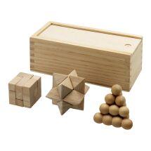 Brainiac Denksportspiel aus Holz, 3-teilig