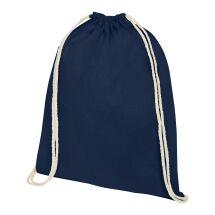 Oregon Premium-Baumwollturnbeutel marineblau | 1-farbiger Siebdruck | Vorderseite | 230 mm x 320 mm