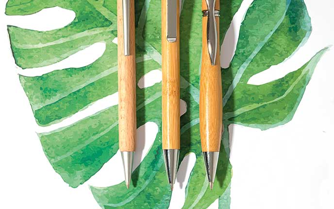 Ökologische Kugelschreiber und Stifte als Werbeartikel bedrucken